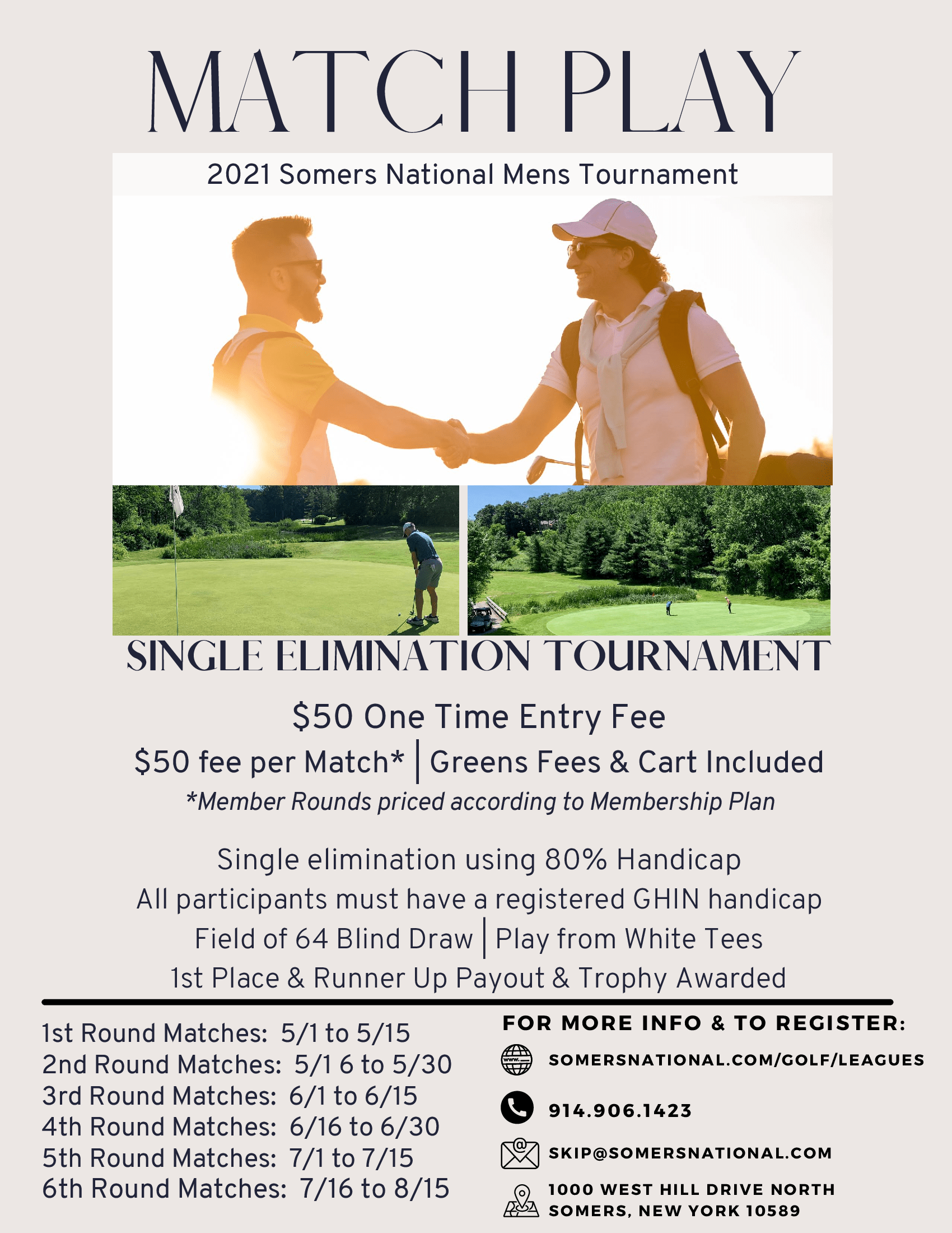 SNGC Match Play Tournament 2021